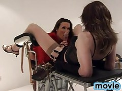 Jane sucks crossdressers monster cock then fucks her ass