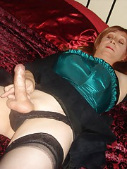 Mistress jane ties up Tgirl friend in nylons and sucks cock