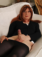 LuciMay is crazy about her long stockings and high heel pumps