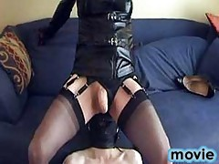 Gimp gets to rub his tongue on Yvette's ass and feet